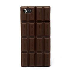 Copertura della cassa della pelle del silicone del cioccolato Compatibile con iPhone 5/5S