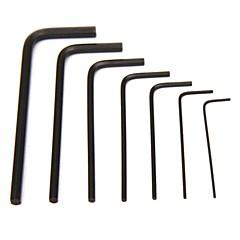 Pro'sKit 8PK-022 7kpl Miniature L muotoinen KUUSIOKOLOAVAINSARJA (0.7,0.9,1.3,1.5,2,2.5,3 mm)