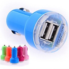 DC 12-24V 2.1A/ 1A Dual-USB Mini Auto Car Charger Adapter for iPhone iPod Smart Phone