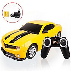 Radio Control 1:22 Car 4CH jaune phares LED