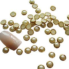 4mm Pearl Egg Tart Design Nail Art Decorations