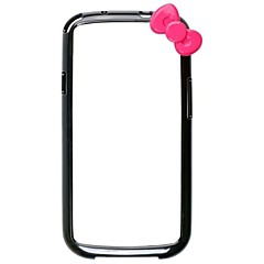 Bowknot Style suojapuskurin Case Frame Samsung Galaxy S3/I9300 (Assorted Colors)
