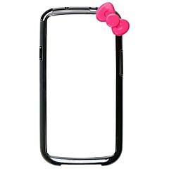 Bowknot Style Skyddande Bumper Case Ram för Samsung Galaxy S3/I9300 (blandade färger)