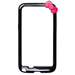 Bowknot Style Protective Bumper Case Frame for Samsung Galaxy Note 2/N7100 (Assorted Colors)