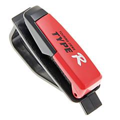 Plasic Compact Sunglass/Card Clip with EVA Sponge