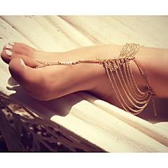 klassinen tupsut sweety metalliseos avojaloin sandaali (kultainen, hopea) (
