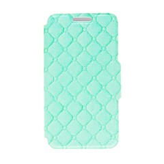 Kinston Green Grid Pattern PU Leather Full Body Case with Stand for iPhone 4/4S