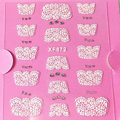 3D Rhinestone French Lace Nail Art Stickers XF Series NO.872