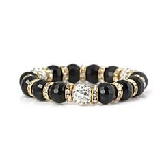 Filled Diamond Crystal Pattern Metallic Flexible Bracelet(1pc)