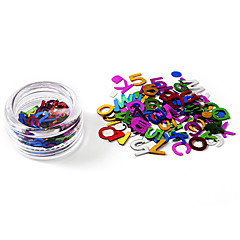 80pcs Glittle Letters design Nail Art Koristeet