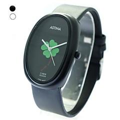Unisex Oval Dial PU Band Quartz Wrist Watch (Assorted Colors)