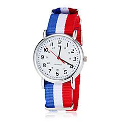 Heren Soccer World Cup Theme Stof band quartz horloge (verschillende kleuren)