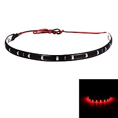 Red Car Merdia 12W 800LM 12x5050SMD LED luz de la decoración-30cm (12 V / 1 PCS)