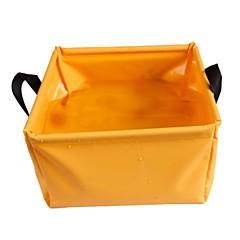 Laminated PVC Folding Basin - Orange + Grey (5 L)