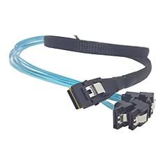 100cm Mini SAS 4i SFF-8087 36 Pin Host tot 90 graden hoek 4 SATA 7Pin Doel HDD harde schijf splitterkabel 10Gbps
