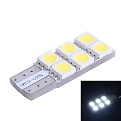 T10 0.9W 100LM 6x5050 SMD Yellow LED for Car Steering Light (DC12V, 1Pcs)