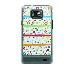 Pikku Kukka on Riotous Colour Leather Vein Pattern Hard Case for Samsung Galaxy S2 I9100
