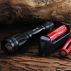 2000 LM CREE XM-L T6 5-Mode LED taskulamppu + 2x18650 akut + laturi