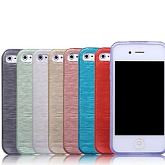 New Brushed Texture TPU Soft Case for iPhone 4/4S (Assorted Colors)