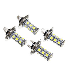 H7 18x5050SMD White Light LED for Car Light Lamp Bulb (12V,4pcs)