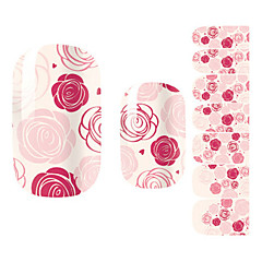28PCS Pink Rose Design Nail Art Stickers