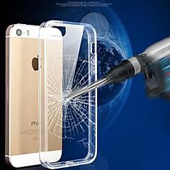 cristal resistente a riscos coloridos TPU quadro transparente da tampa do caso PC para 5/5s iphone (cores sortidas)