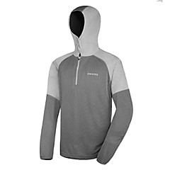 AMADIS Lightgray Polyester Long Sleeve Anti-UV Fishing Hoodie