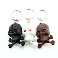 Skull Style 2-LED Mini Red torcia portachiavi - 1Pz (3 x AG3)