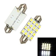 Merdia Festoon 42MM 5W 192LM 16x1210SMD LED de luz blanca de coches de lectura lámpara / luz de freno - (12 V / 2 PCS)