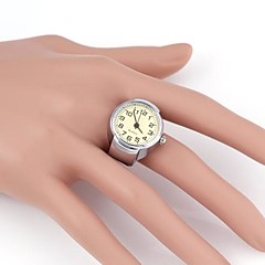 Simple Design Round Pattern Metallic Flexible Ring Watch(1pc)