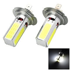 Marsing H7 20W 1500lm 4-COB LED 6500K White Light Car strålkastare Dimljus - (12V 2 st)