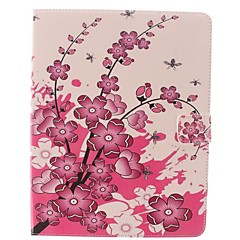 The Plum Flower Design PU Full Body Case with Stand for iPad 2/3/4