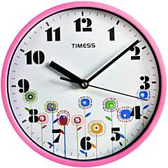 "Timess™ 9""H Style Gorgeous Flower Bud Mute Wall Clock"