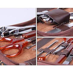 10pcs cortaúñas de acero inoxidable scissor kit manicura pedicura