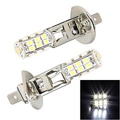 Merdia H1 5W 300LM 25x3528SMD LED White Light for Car Brake Light / Fog Light(2 PCS /12V)