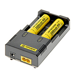 NITECORE NL189 3400mAh 18650 Batetry (2 kpl) + NETCORE I2 akkulaturina 18650/14500/16340 (2 akkua)