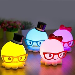 Strange New Cute Octopus Model Energy-Saving Small Night Light LED Desk Lamp