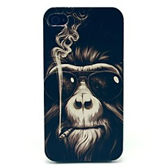 Rökning Monkey Mönster Hard Case för iPhone 4/4S