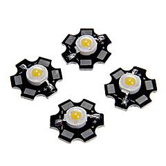 ZDM ™ 1W hög effekt varm vit färg LED-modul med aluminium pcb (3.0-3.4v, 5st)