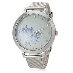 Женская цветочным узором стальной ленты кварцевые наручные часы