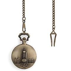 Rétro motif Oriental Pearl Metallic montre de poche (1pc)