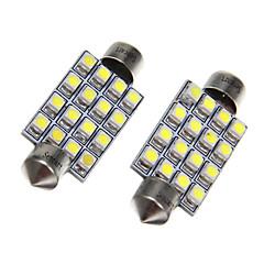 16x3528SMD White Light LED for Car Bulb (2pcs)