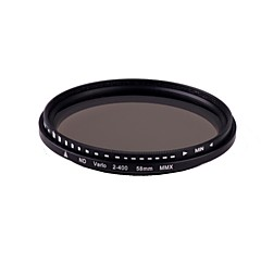 Livraison gratuite Brand New Slim Fader Variable ND 58mm Filtre ND2 réglable à ND400 densité neutre pour DSLR
