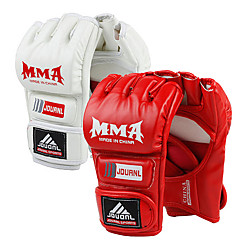 PU Leather Half Finger Boxing Gloves(Assorted Color)