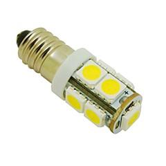 DIY(DC 12V、2パック)のためのE10 2W 9X5050 SMD 3000KウォームホワイトライトLED電球