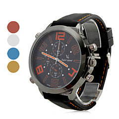 Men's Watch Quartz Military Silicone Strap