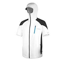 AMADIS White Polyester Short Sleeve Anti-UV Fishing Jacket
