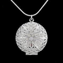 Round Hollow Pattern Box Pattern Necklace(1pc)