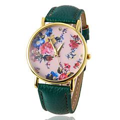 ρολόι λουλούδι μοτίβο μόδας των γυναικών