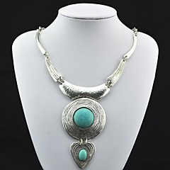 Toonykelly® Vintage Antique Silver Turquoise Necklace(Green)(1 Pc)